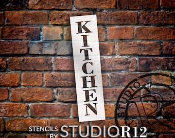 Kitchen - Farmhouse Serif - Vertical - Word Stencil - Select Size - STCL1952 - by StudioR12