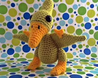 SnuggleMe Pterodactyl {Dinosaur} PDF Crochet Pattern