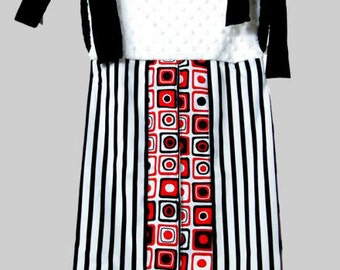 Red, Black and White Diaper Stacker