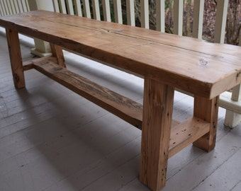 Reclaimed Wood Bench, Entryway Bench, Barn Wood Bench