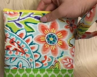 Paisley Wristlet, Paisley wrist purse