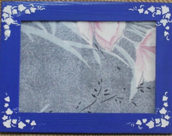 Blue Painted Picture Frame Size 8.30 * 6.30