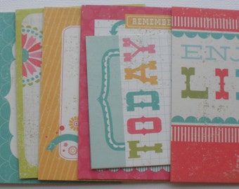 SO HAPPY Chipboard Die Cuts: Journaling Cards / Titles / Quotes / Picture Cards