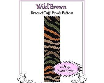 Bead Pattern Peyote(Bracelet Cuff)-Wild Brown