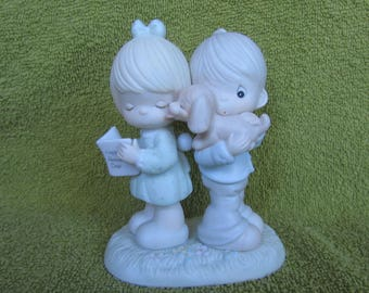 Vintage Precious Moments - Puppy Love Is From Above - 106798 Anniversary