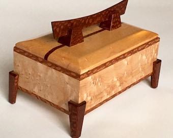 Special Edition Birdseye Maple Jewelry Keepsake Pagoda Box
