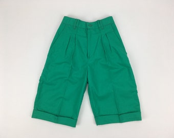 Classic French Green Bermuda Shorts | Pom'Flore French Children's Clothing