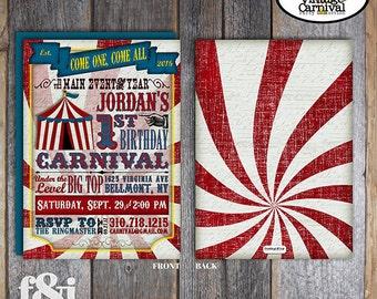 Carnival Invitation | Circus Invitation | Carnival Invite | Circus Invite | Vintage Carnival Invitation | Address Labels | Printable