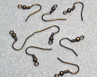Quality Antique Bronze Earwires- Jewelry Findings