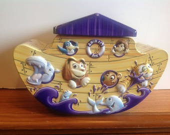 Novelty Clock - Advertising Tin Clock - Noah's Ark Clock