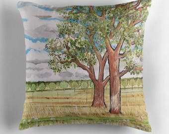 Beautiful Throw Cushion Featuring The Painting 'The Answer Is Blowing In The Wind'