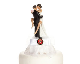Military Sexy African American Cake Topper- Air Force - Navy - Army - Marines -Custom Painted Hair Color Available - 109005AA