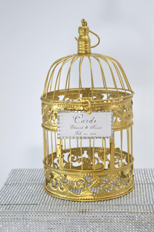 Wedding Birdcage Centerpiece or Wishing Well, Wedding Advice Box. Wedding Decor. Card Box.