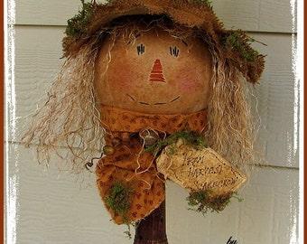 Primitve Scarecrow Pattern Scarecrow Make-do Fall ePattern