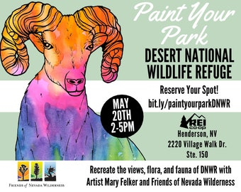 Paint Your Park Desert National Wildlife Refuge with Artist Mary Felker and Friends of Nevada Wilderness at REI Henderson