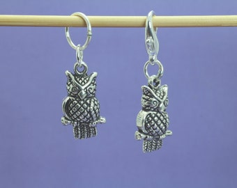Owl Knitting or Crochet Stitch Marker, Knitting Marker, Crochet Marker, Knitting Tools, Crochet Tools, Gift for Knitters