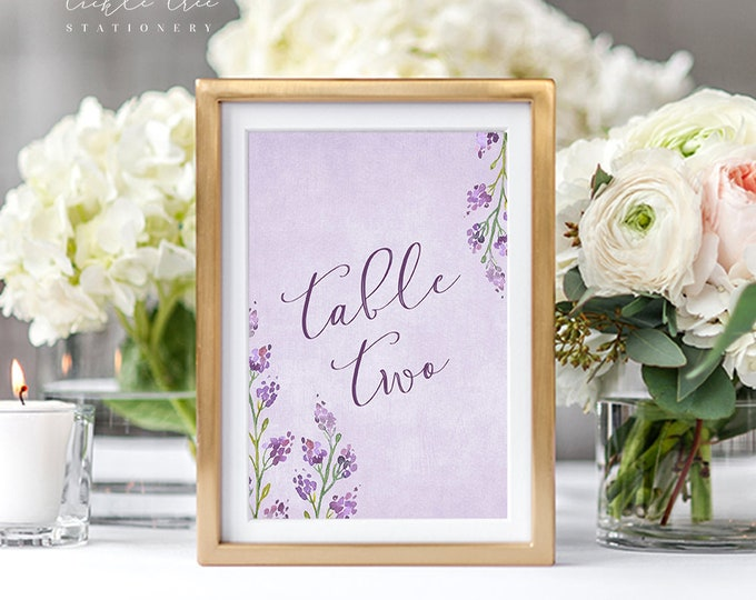 Featured listing image: Table Number Cards - Summer Blooms (Style 13570)
