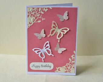 Birthday card, butterfly card