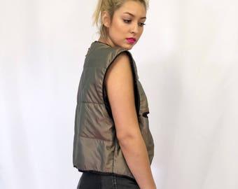 Copper reversible vest
