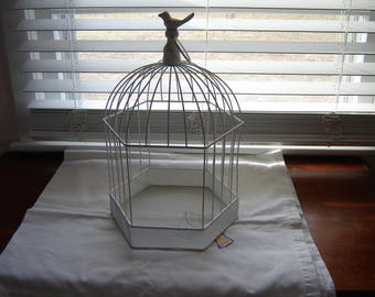 Bird cage white decorative bird cage wedding table decor card box table centerpiece home decor plant holder