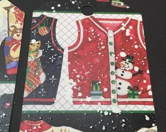 Ugly Christmas Sweater Christmas Tags - set of 12