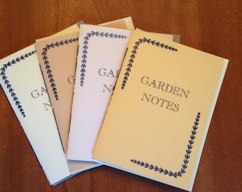 """Letterpress Notebook, """"Garden Notes"""""""