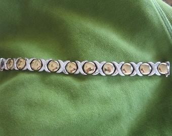 Vintage Sterling Silver Designed Bracelet Lovely