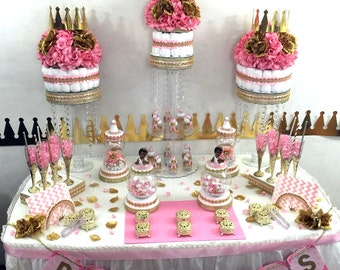 Baby Shower Candy Buffet Images ~ Princess baby shower candy buffet centerpiece with baby shower