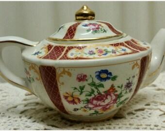 James Sadler Teapot For One Collectors Miniature China Teapot Versailles Pattern