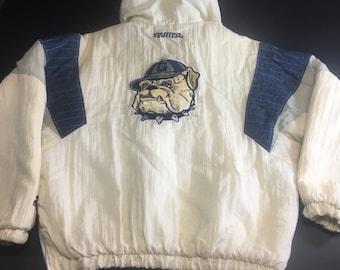 Vintage White Georgetown University Hoyas Pullover Starter Jacket