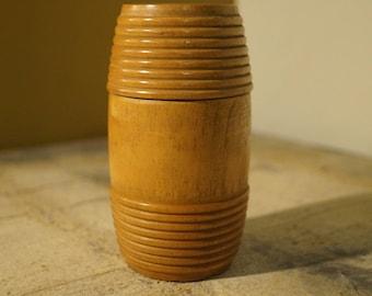 Antique Vintage Wooden Lidded Jar