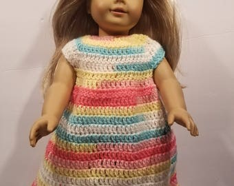Crocheted nightgown for American girl doll
