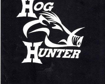 Hunting wild hog hunter decal sticker - 432-