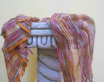 Beautiful Guatemalan WooL and Colored Thread  Pashmina