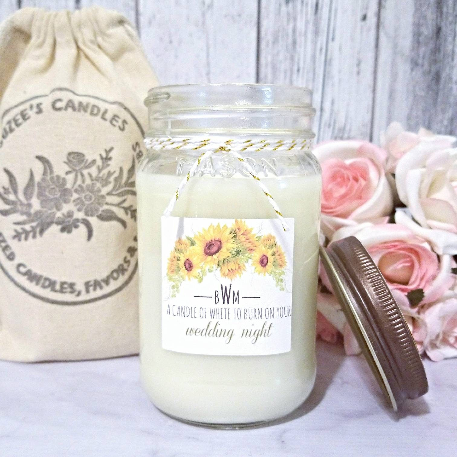 Wedding Candle Gift - Couples Wedding Gift - Soy Candle Wedding ...