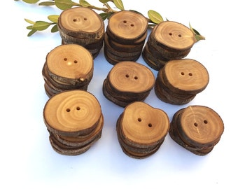 Wholesale buttons Wooden buttons Olive tree buttons Eco tribal buttons Handmade findings Set of 50, 1 1/4 inch buttons 3,5 cm, 5% DISCOUNT