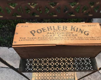 Poehler King cheese box