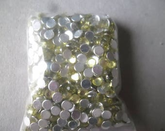 x 100 rhinestone paste green clear 4 mm