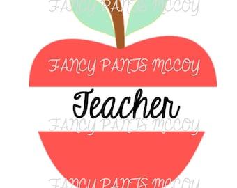 Teacher on apple SVG