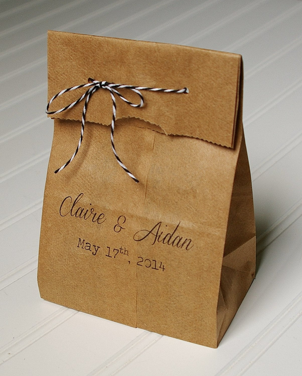 Personalized Wedding Favor Bags Candy Bags. Kraft Paper