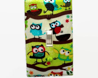 Woodland Light Switch Cover - Owl Switch Plate - Woodland Nursery Decor - Boys Owl Room - Owl Switch Cover - Owl Bedroom - Girls Owl Room