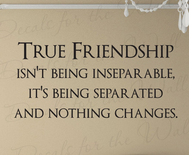 Quotes About Real Friendship Custom True Friendship Friends Quote Decal Decoration Wall Saying