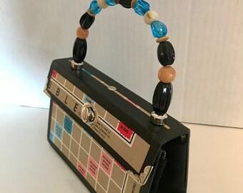 Scrabble Recycled Gameboard Handbag Purse
