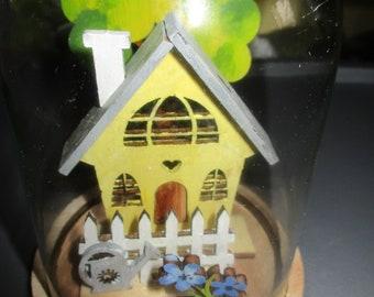 The little house under glass, handmade