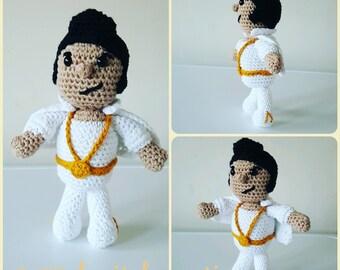 Elvis Presley (The King) Crochet Doll Pattern - Amigurumi PDF instant download