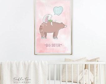 Art Print - Best Buddy/Big Sister (W00046)