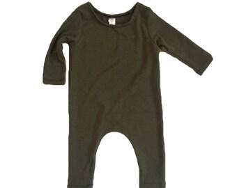 OLIVE Romper- Short or Long Sleeve | Short sleeve, long sleeve romper, harem romper, baby onesie, solid romper