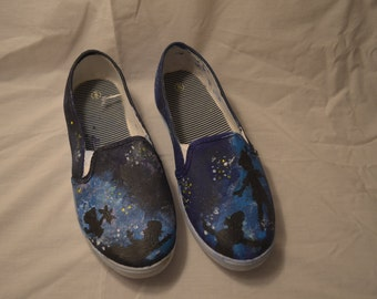 Disney's Peter Pan Inspired Hand Painted TOM's Shoes