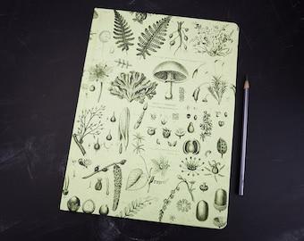 Plants and Fungi Vintage Hardcover Notebook | Sketchbook Blank Bullet Journal Bujo Gardener Artist Botany Graduation Birthday Gift