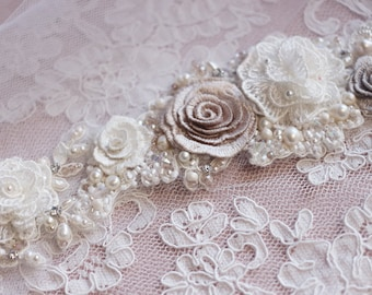 Bridal sash, wedding sash, flower wedding sash, bridal belt, wedding dress belt, wedding dress sash, crystal sash, lace belt, lace sash